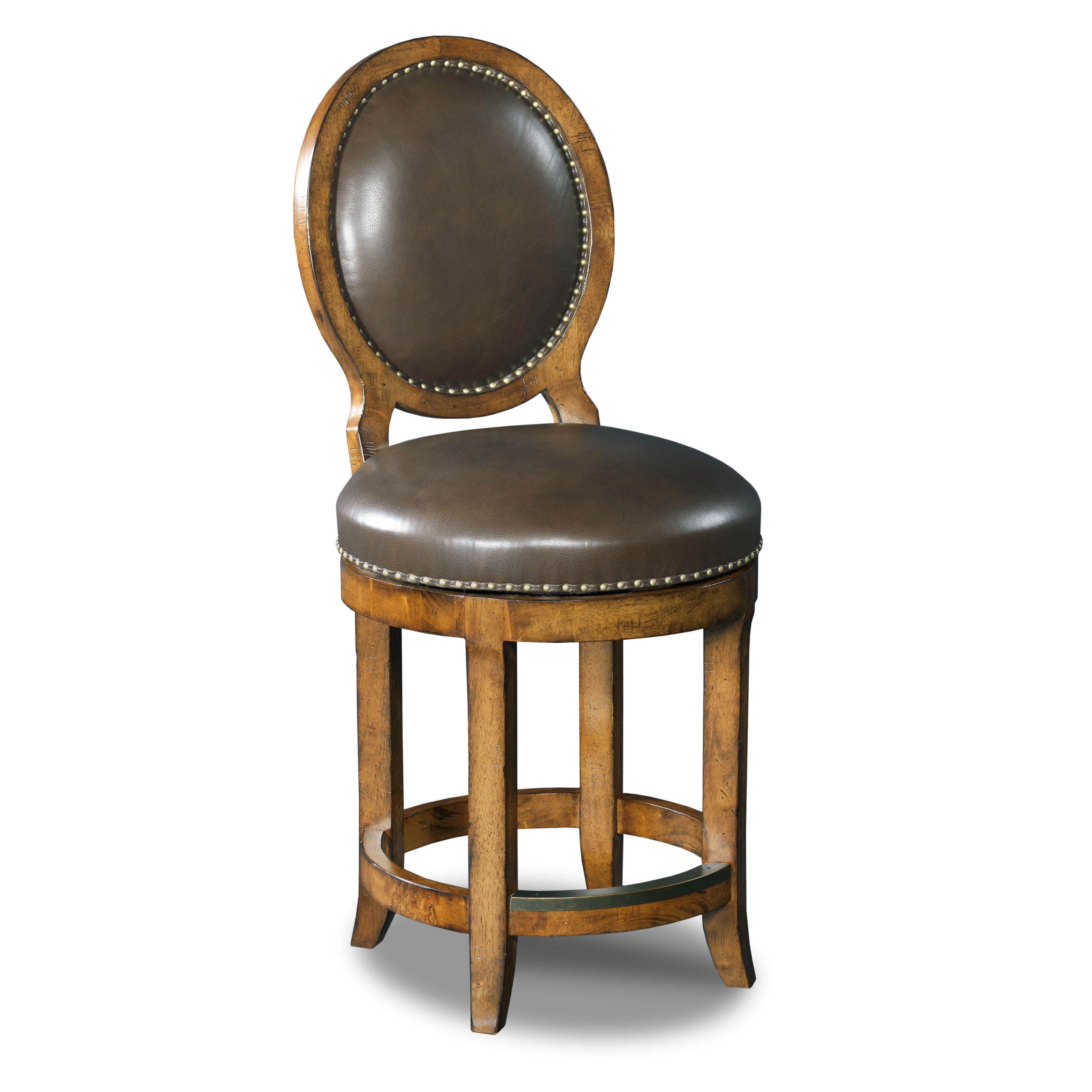 Hooker Furniture Stools Medium Mojito Oval Back Swivel