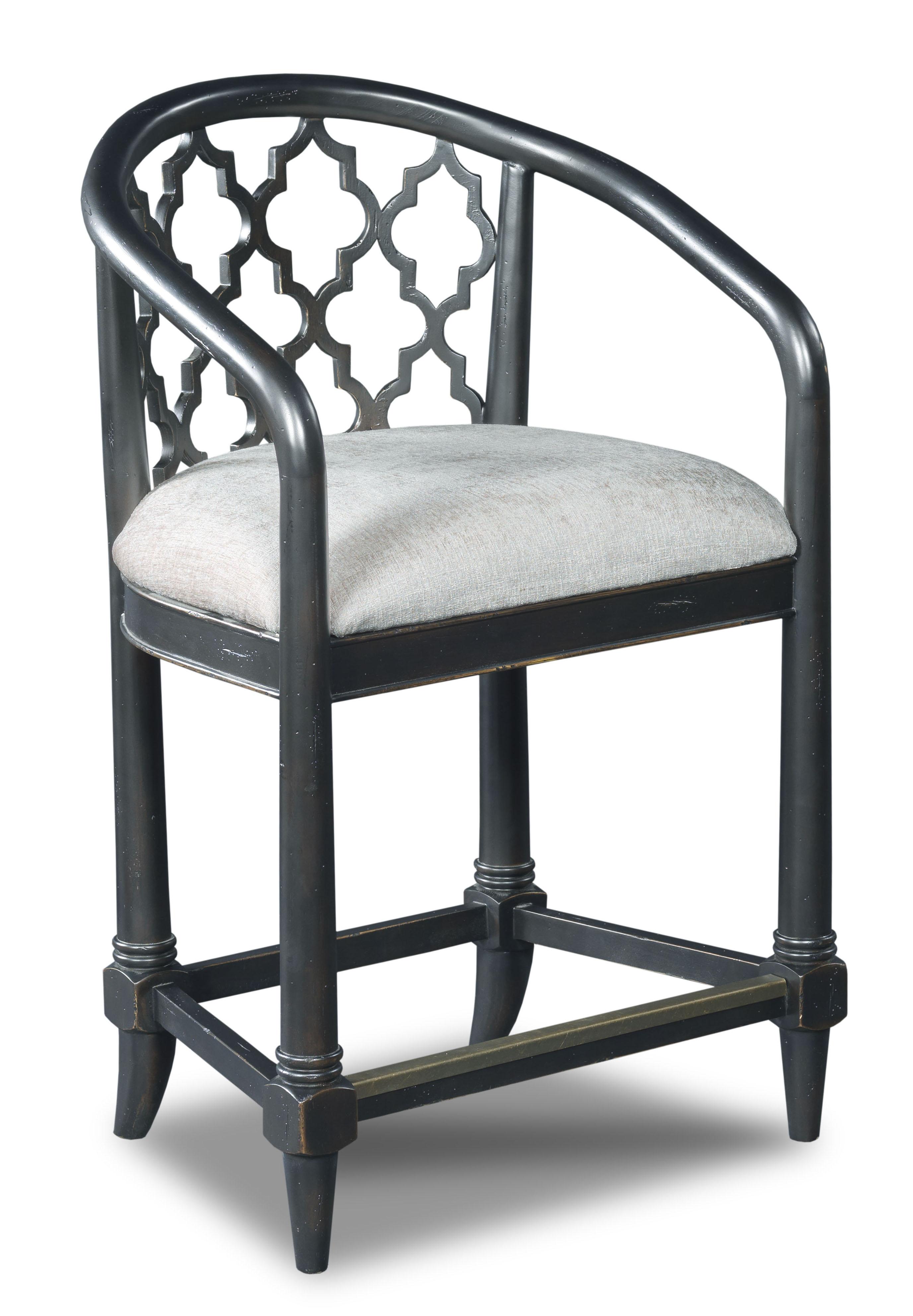 Hooker Furniture Stools Dark Cosmopolitan Geometric Counter Stool - Item Number: 300-25011