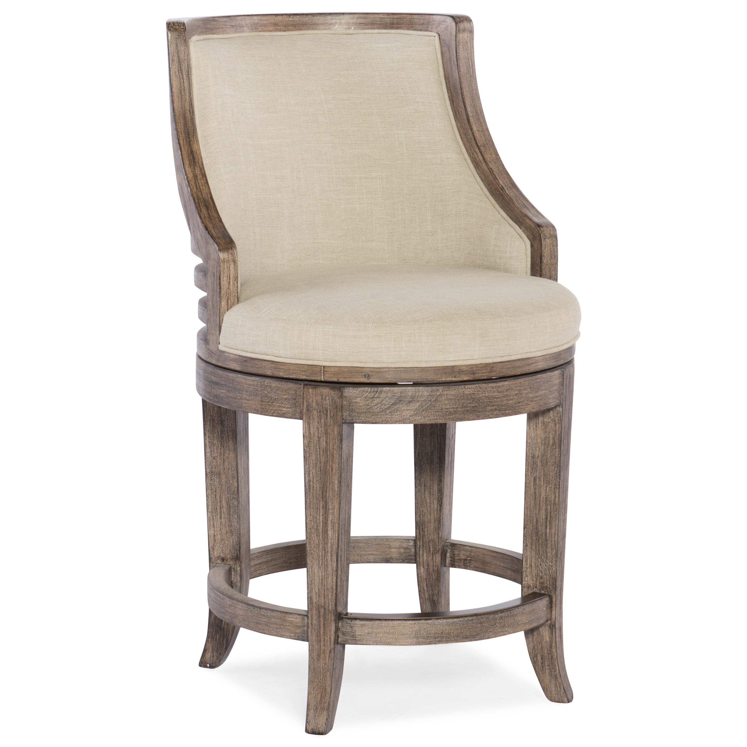 Hooker Furniture Stools Medium Lainey Transitional Swivel
