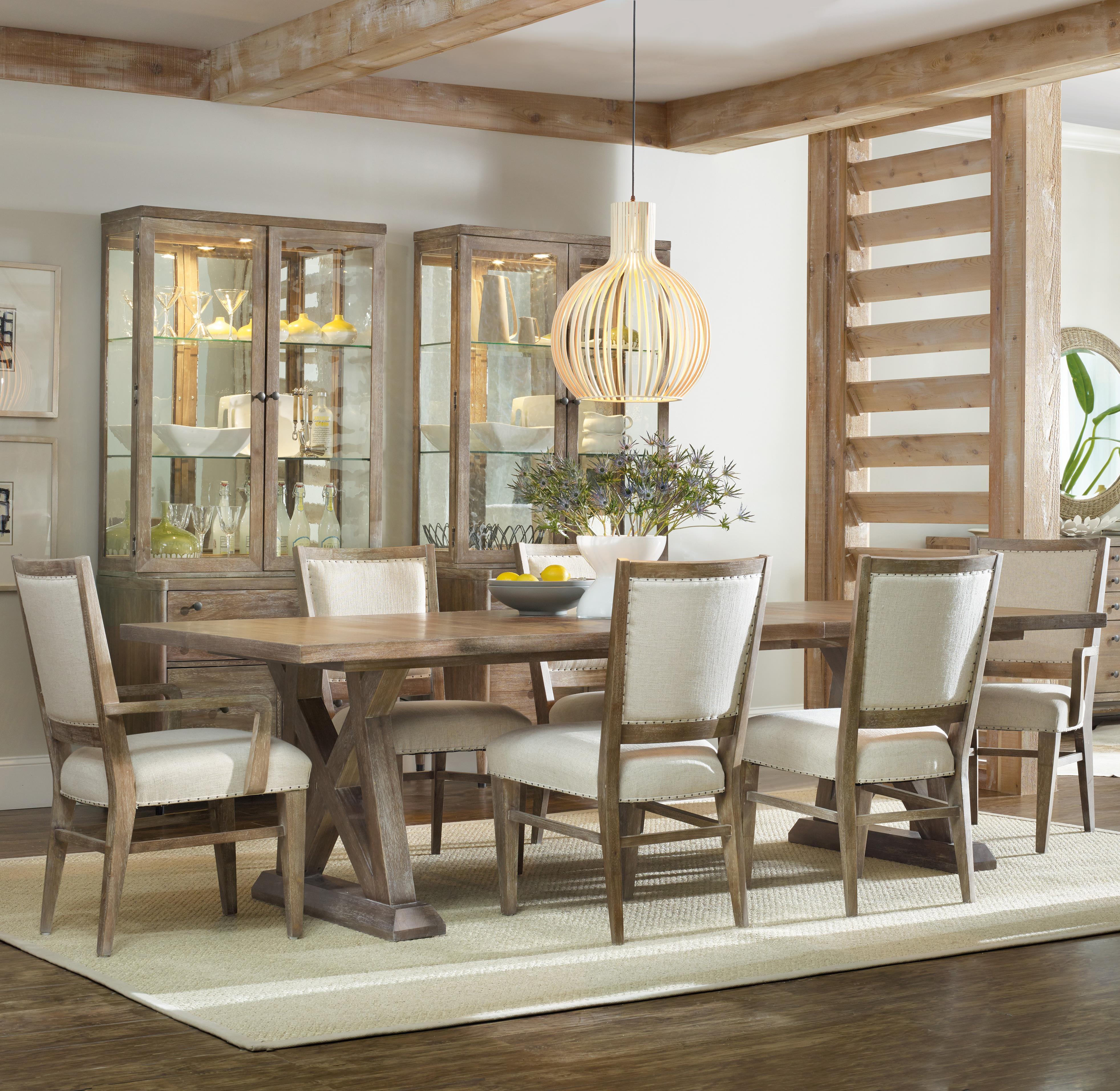 Hooker Furniture Studio 7H 7 Piece Dining Set - Item Number: 5382-75207+2x400+4x410