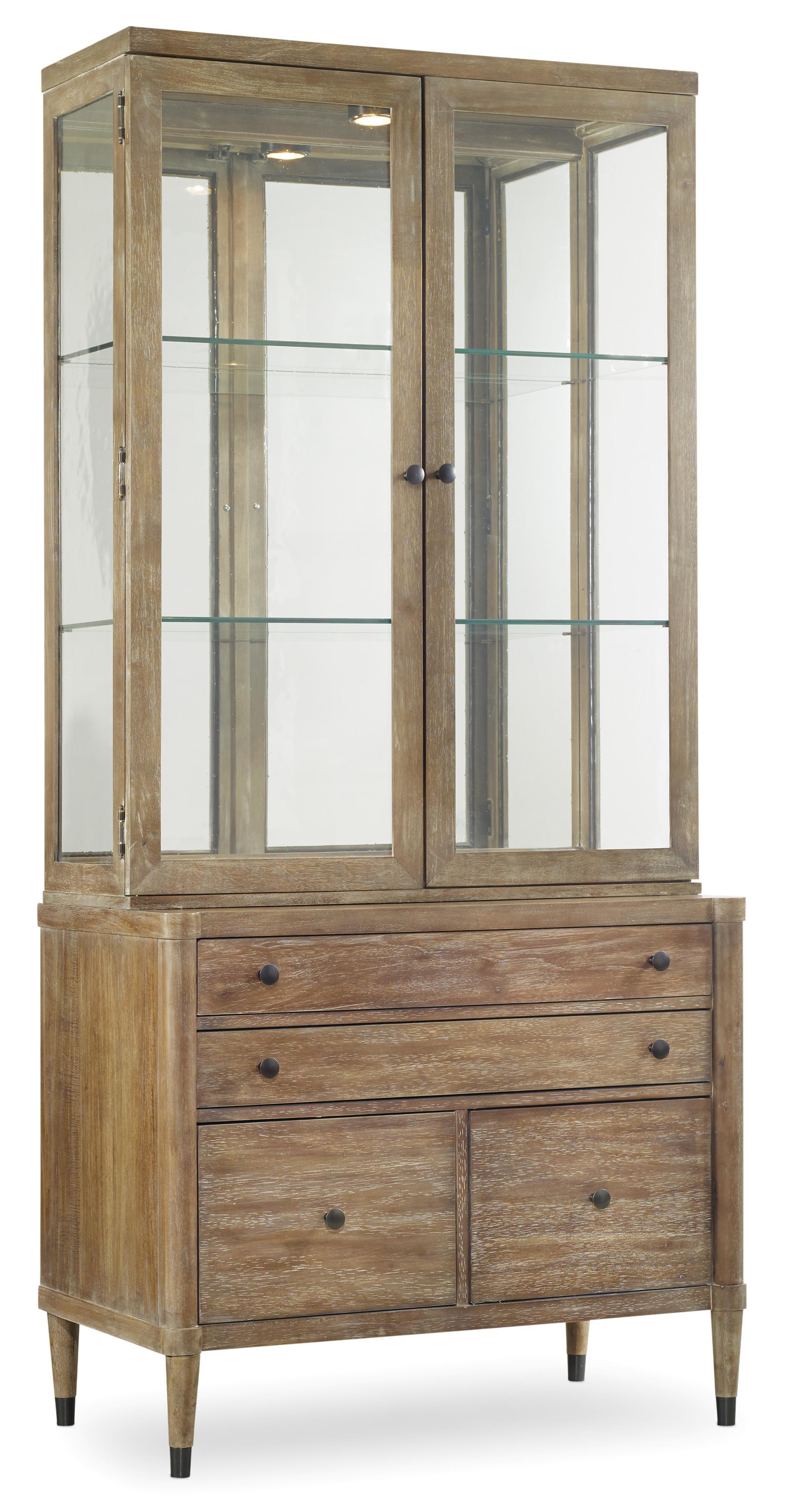 Hooker Furniture Studio 7H Utility Credenza with Hutch - Item Number: 5382-75900+1
