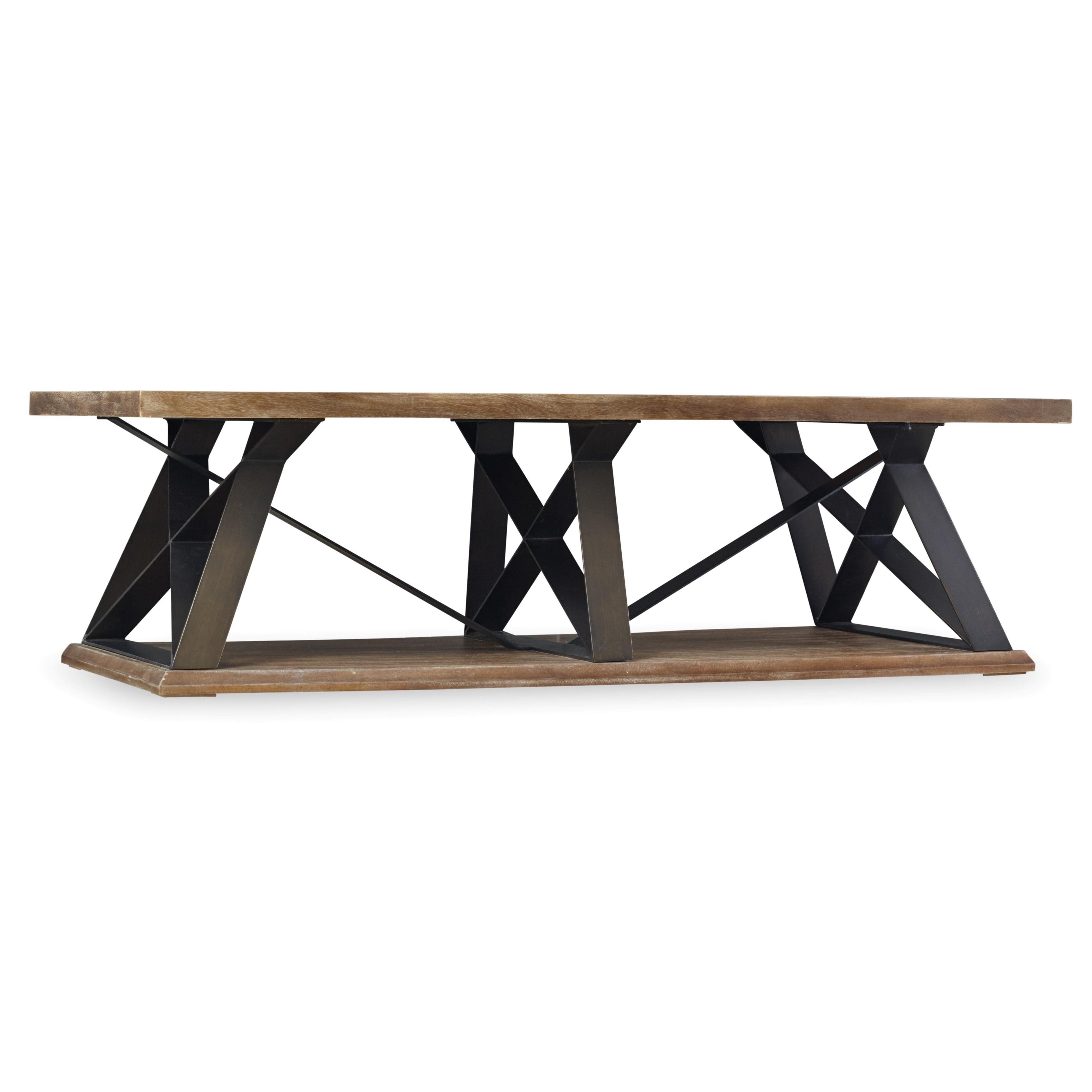 Hooker Furniture Studio 7H Crisscross Trestle Cocktail Table - Item Number: 5382-80110