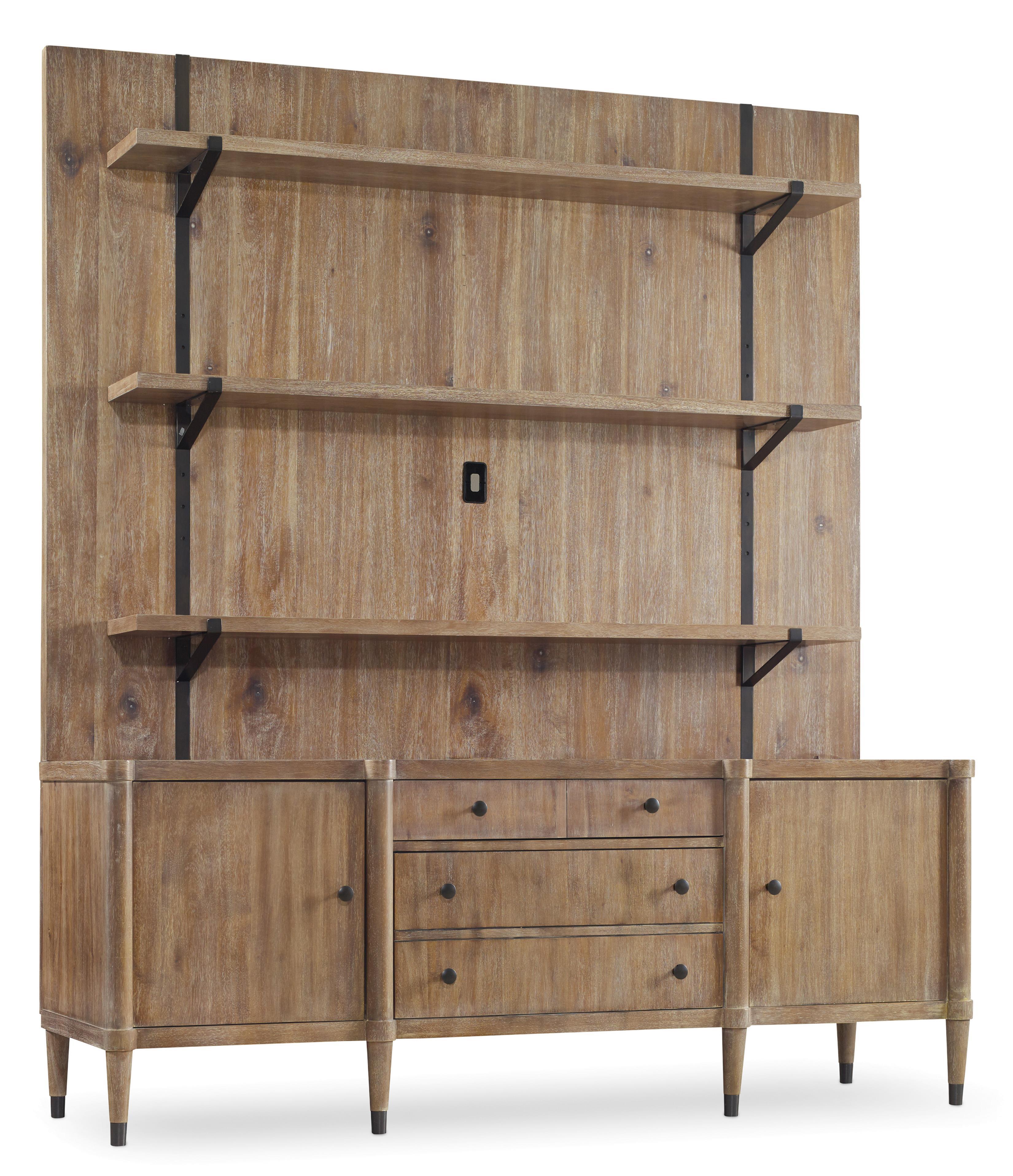 Hooker Furniture Studio 7H Vennesla Credenza with Hutch - Item Number: 5382-85001+2