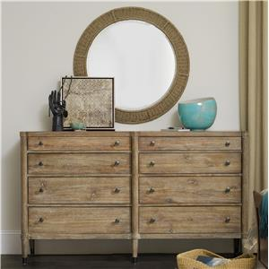 Hooker Furniture Studio 7H Annika Dresser and Harmony Mirror Set