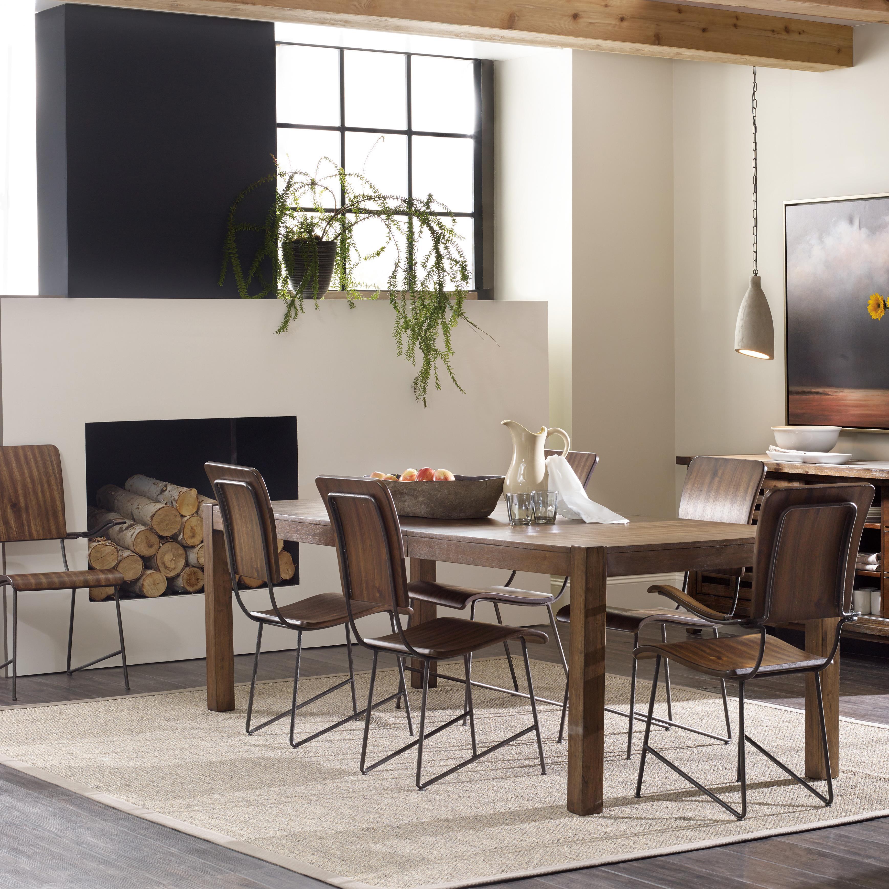 Hooker Furniture Studio 7H 7 Piece Dining Set - Item Number: 5388-75200+2x300+4x310
