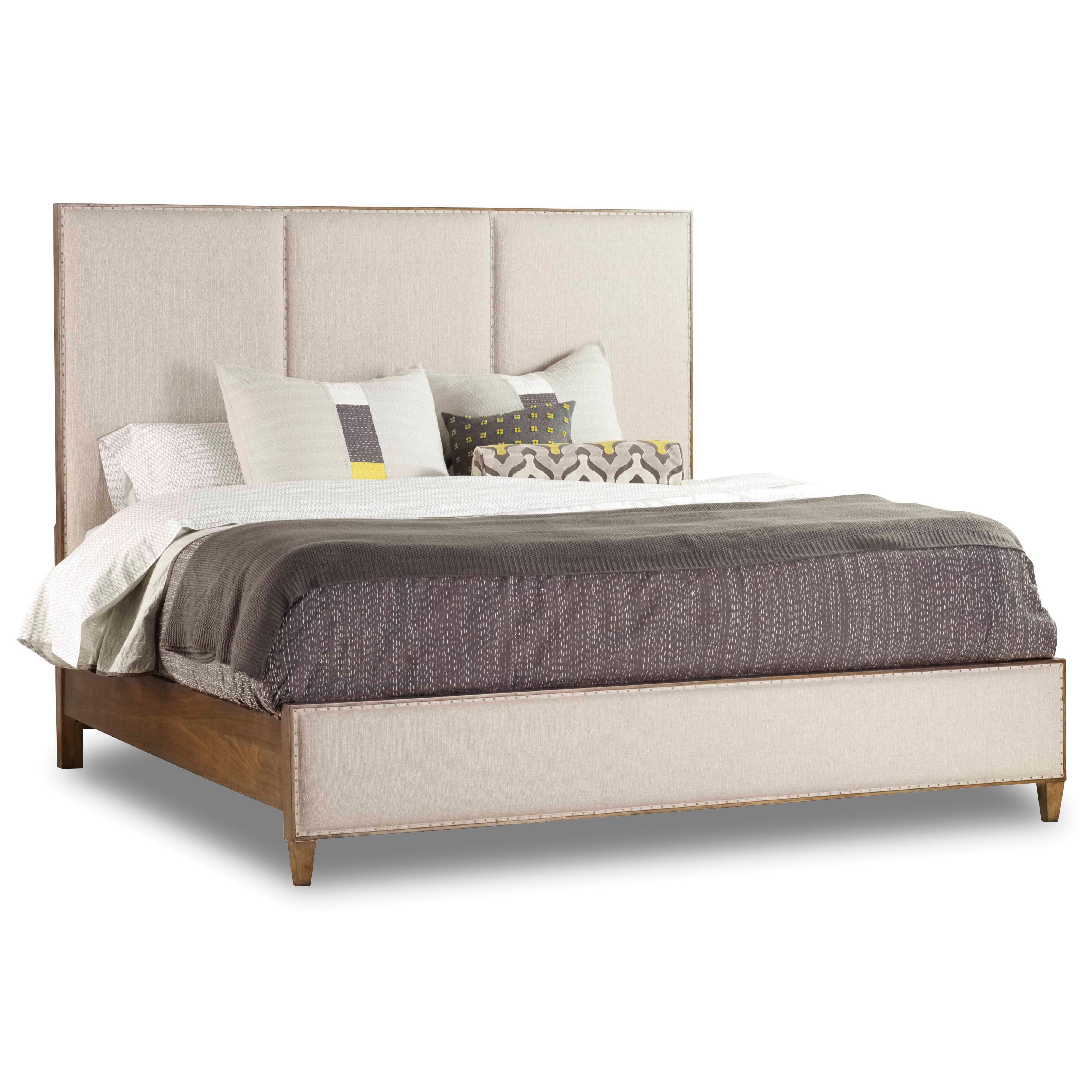 Hooker Furniture Studio 7H Queen Aon Upholstered Panel Bed - Item Number: 5398-90250