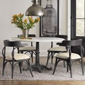 Hooker Furniture Studio 7H 5 Piece Dining Set - Item Number: 5465-75203-WH+4x75400-LTBLK