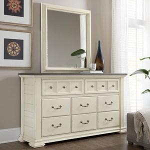 Eight-Drawer Dresser & Mirror