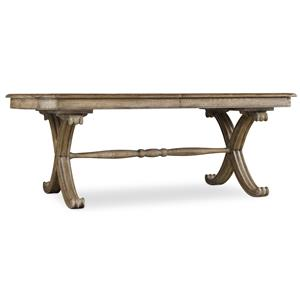"""Hooker Furniture Sundara Rectangle Dining Table with two 18"""" Leaves"""