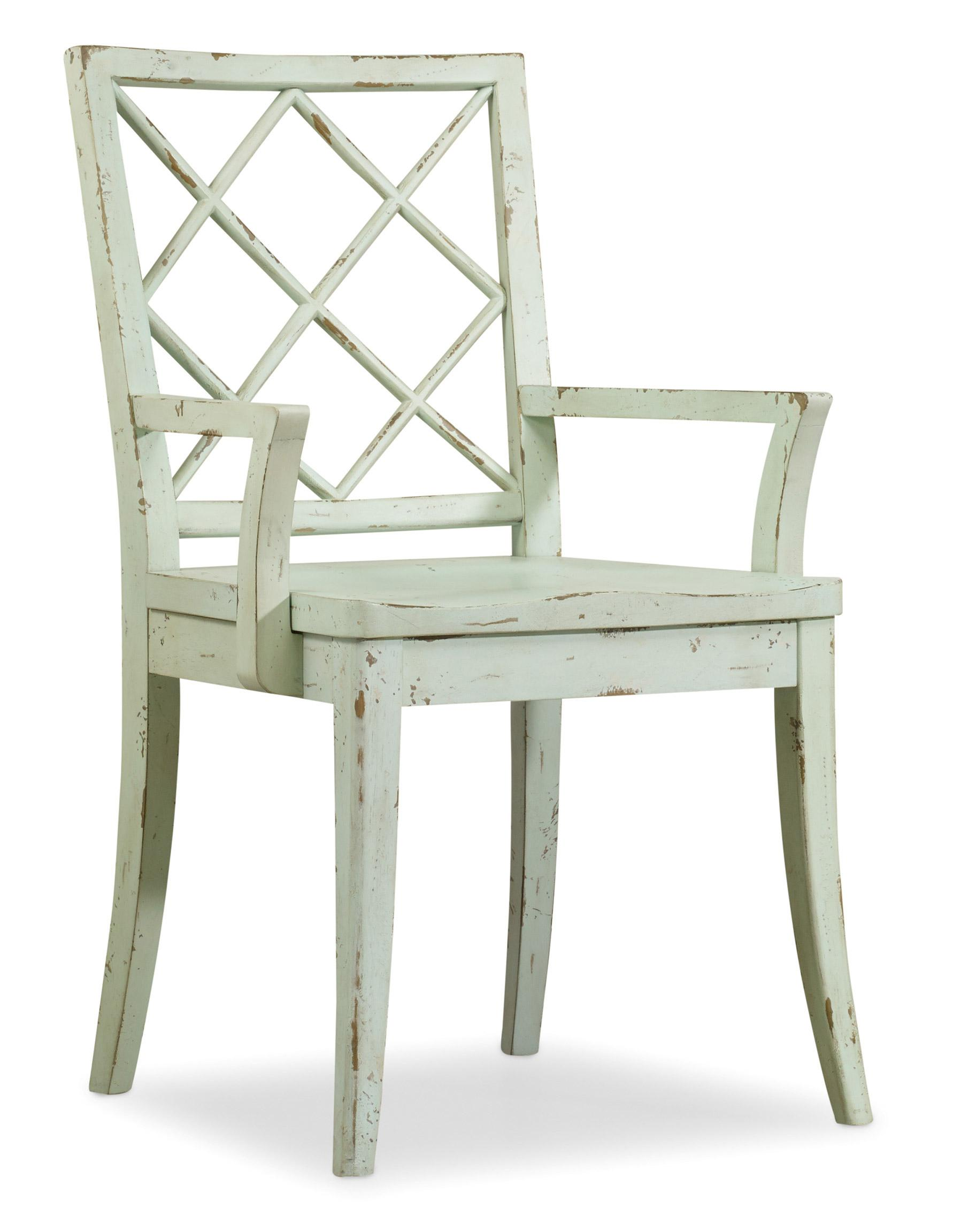 Hooker Furniture Sunset Point X Back Arm Chair - Item Number: 3526-75300