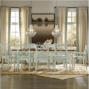 Hooker Furniture Sunset Point 9 Piece Table & Chair Set