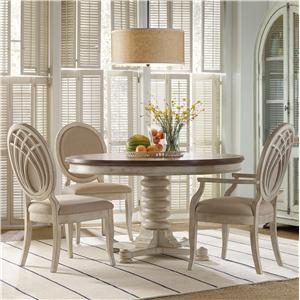 Hooker Furniture Sunset Point 5 Piece Pedestal Dining Set