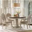 Hooker Furniture Sunset Point 5 Piece Pedestal Dining Set - Item Number: 5325-75203+2x5325-75400+2x75410