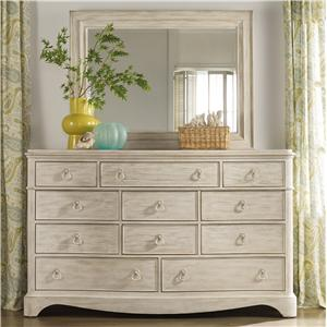 Hooker Furniture Sunset Point 11 Drawer Dresser & Mirror Set