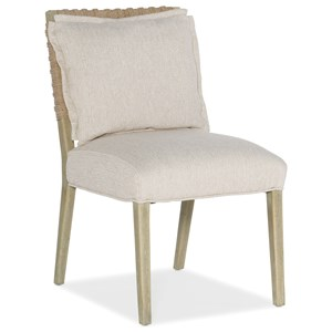 Woven Back Side Chair