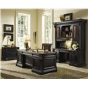 Hooker Furniture Telluride Executive Double Pedestal Desk - Shown with Lateral File & Desk & Hutch