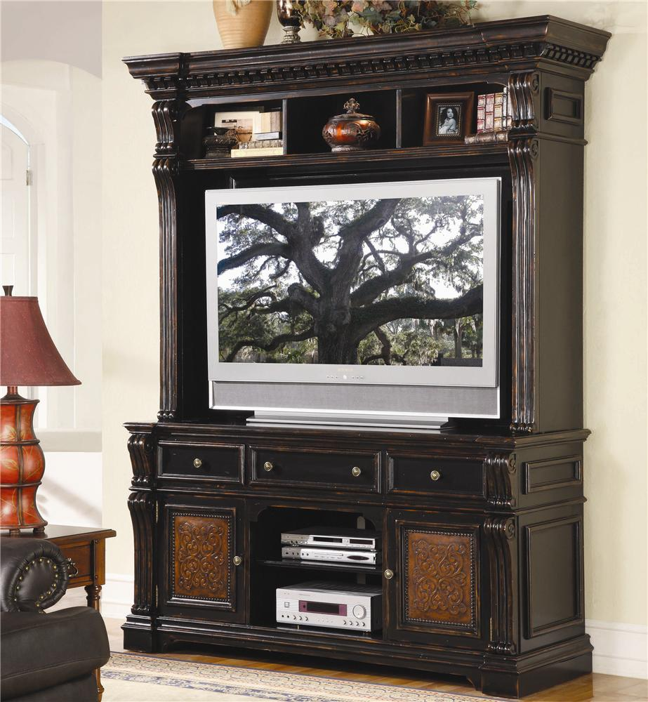 Hooker Furniture Telluride Entertainment Console & Hutch - Item Number: 370-55-491-591