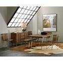 Hooker Furniture Transcend Dining Bench with Metal Base