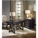 Hooker Furniture Treviso Writing Desk with Bonded Leather Writing Surface