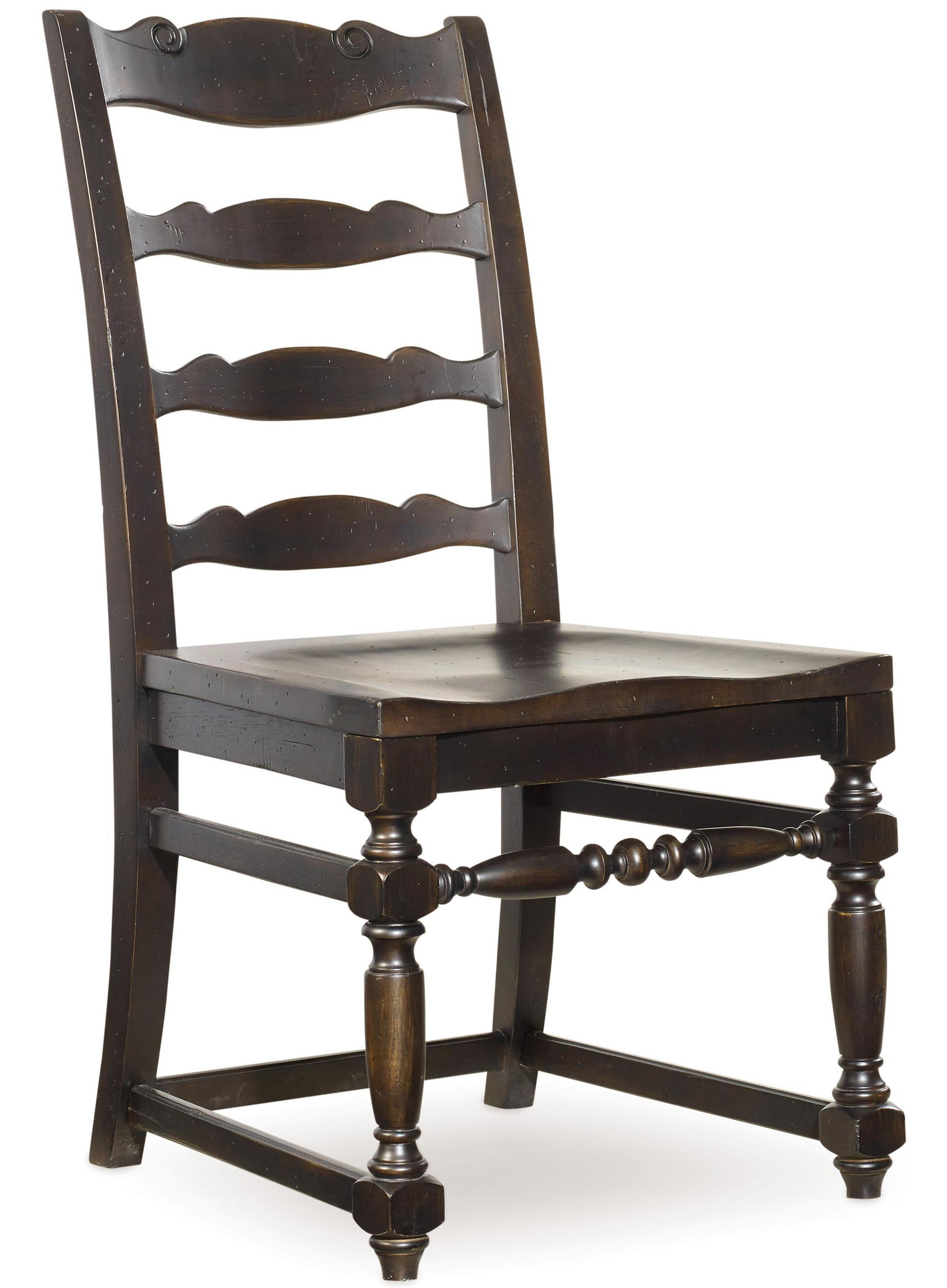 Hooker Furniture Treviso Ladderback Side Chair - Item Number: 5374-75310
