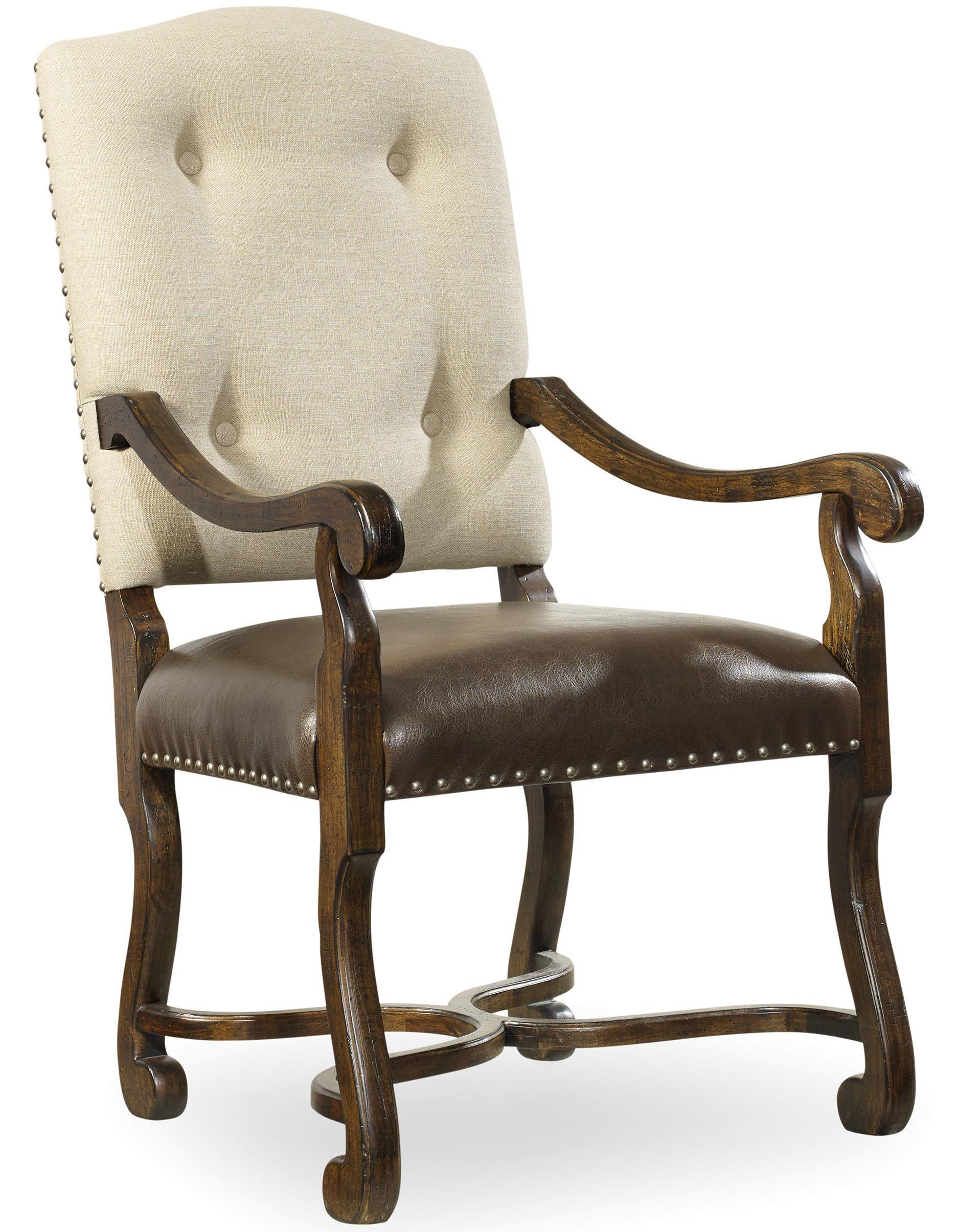 Hooker Furniture Treviso Camelback Arm Chair - Item Number: 5474-75500