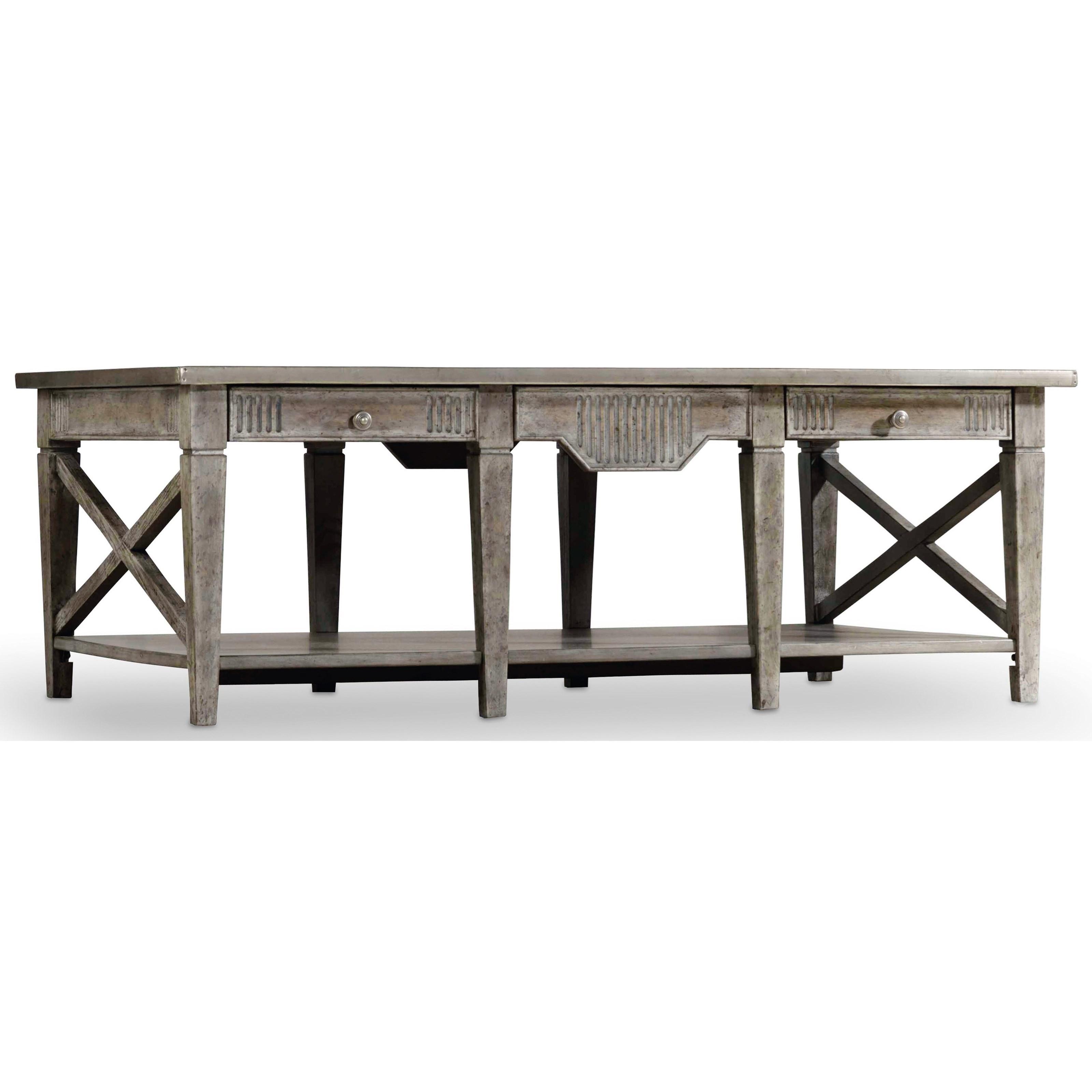 Hooker Furniture True Vintage Rectangle Cocktail Table - Item Number: 5701-80110