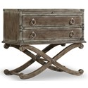 Hooker Furniture True Vintage Nightstand with 2 Dovetail Drawers