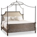 Hooker Furniture True Vintage Queen Fabric Upholstered Canopy Bed - Item Shown May Not Represent Size Indicated