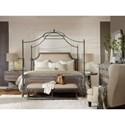 Hooker Furniture True Vintage King Fabric Upholstered Canopy Bed