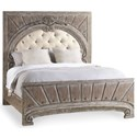 Hooker Furniture True Vintage King Upholstered Panel Bed - Item Shown May Not Represent Size Indicated