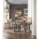 Hooker Furniture True Vintage Leg Desk with 3 Drawers