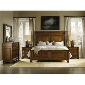 Hooker Furniture Tynecastle California King Panel Bed Group