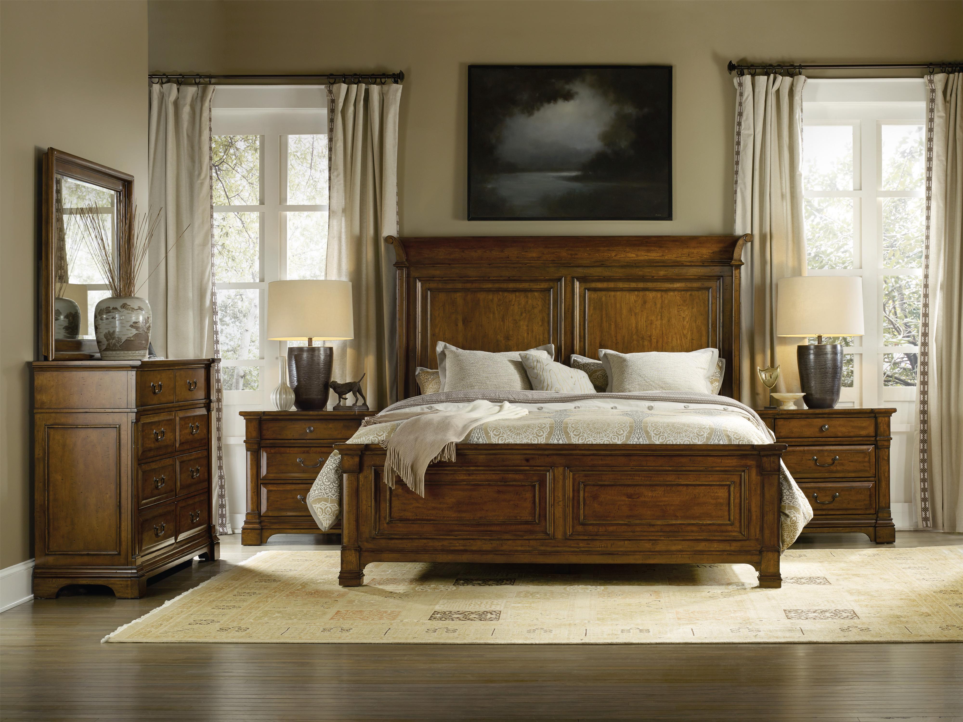 Hooker Furniture Tynecastle King Panel Bedroom Group - Item Number: 5323 K Bedroom Group 1