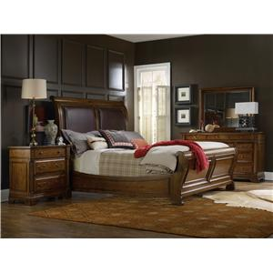 Hooker Furniture Tynecastle King Sleigh Bedroom Group