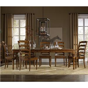 Hooker Furniture Tynecastle 7 Piece Dining Set with Side Chairs