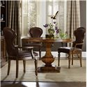 Hooker Furniture Tynecastle Table and Chair Set - Item Number: 5323-75203+4x75500