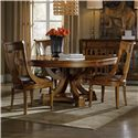 Hooker Furniture Tynecastle Table and Chair Set - Item Number: 5323-75206+4x75410