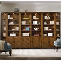 Hooker Furniture Viewpoint   Bookcase Wall Unit - Item Number: 5328-10448+2x446+2x450