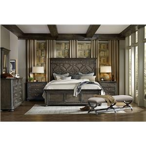 Hooker Furniture Vintage West California King Bedroom Group