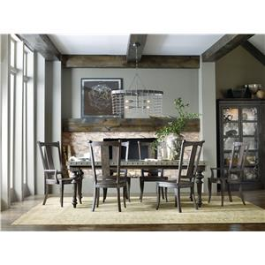 Hooker Furniture Vintage West 7 Piece Dining Table Set