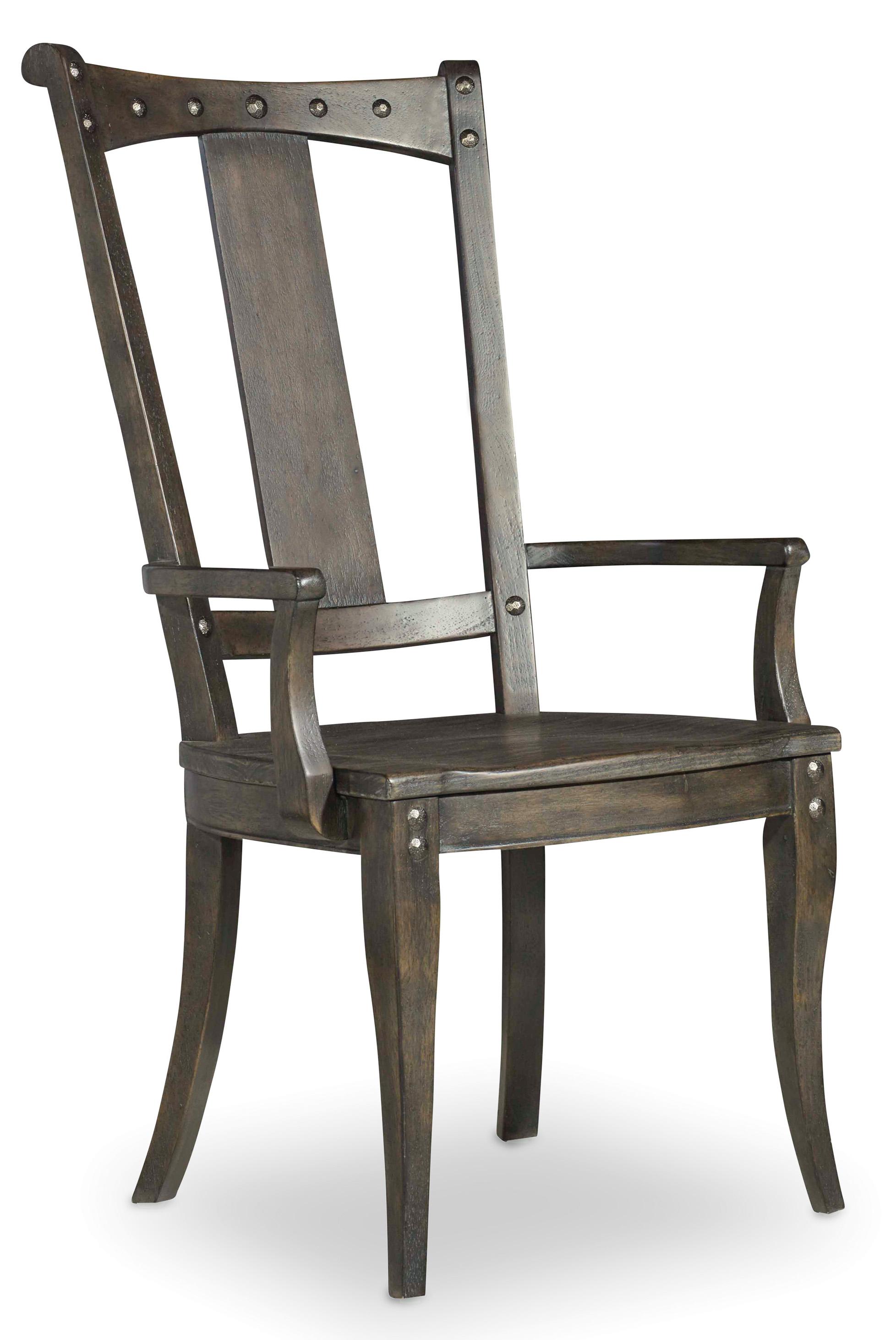 Hooker Furniture Vintage West Splatback Arm Chair - Item Number: 5700-75300