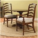Hooker Furniture Waverly Place Round Drop Leave Casual Dining Table - Shown with Ladderback Arm and Side Chairs