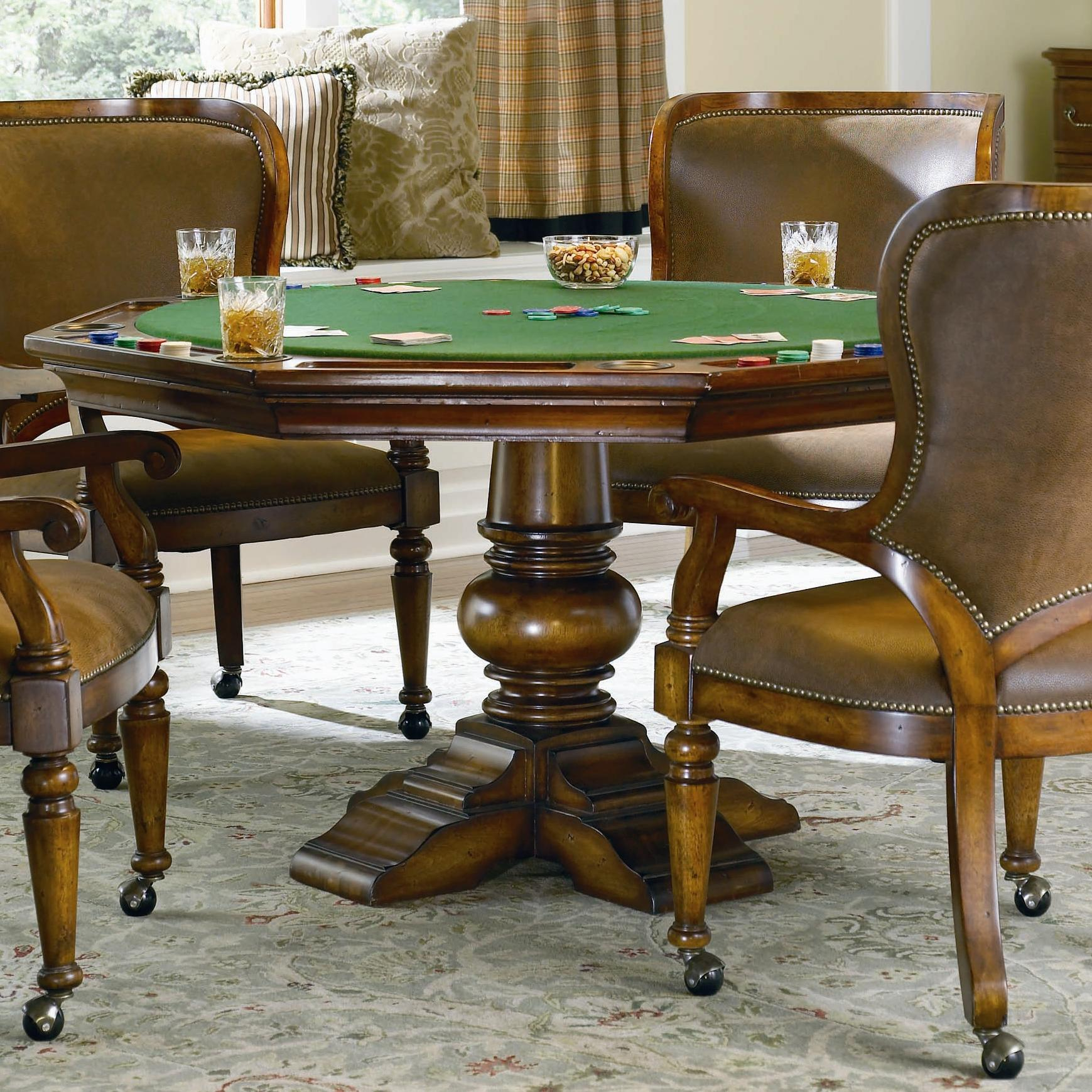 Hooker Furniture Waverly Place Reversible Poker Table - Item Number: 366-75-800