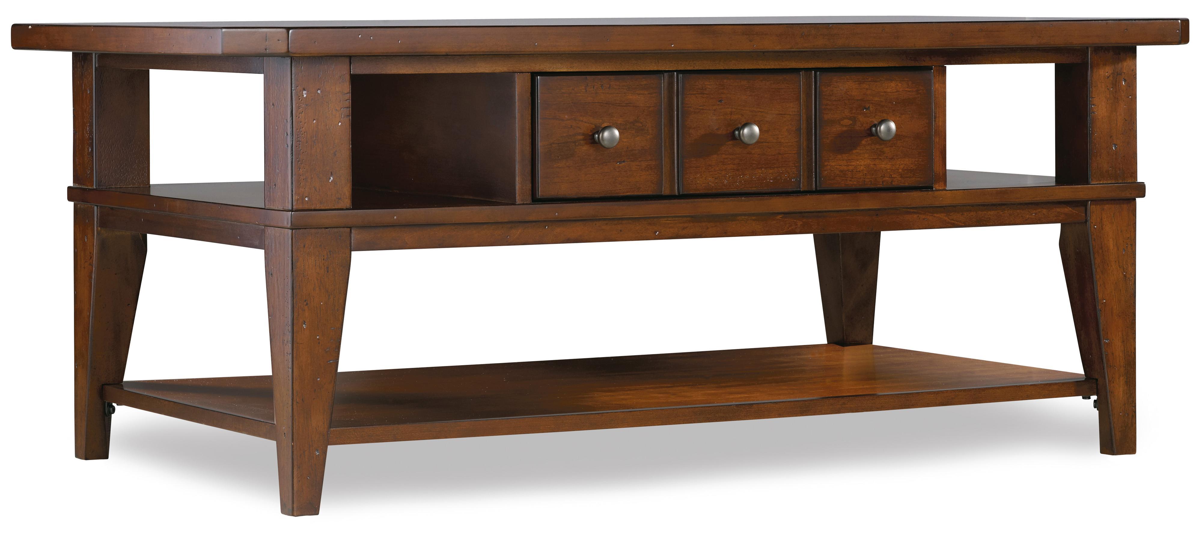 Hooker Furniture Wendover Rectangle Cocktail Table - Item Number: 1037-81110