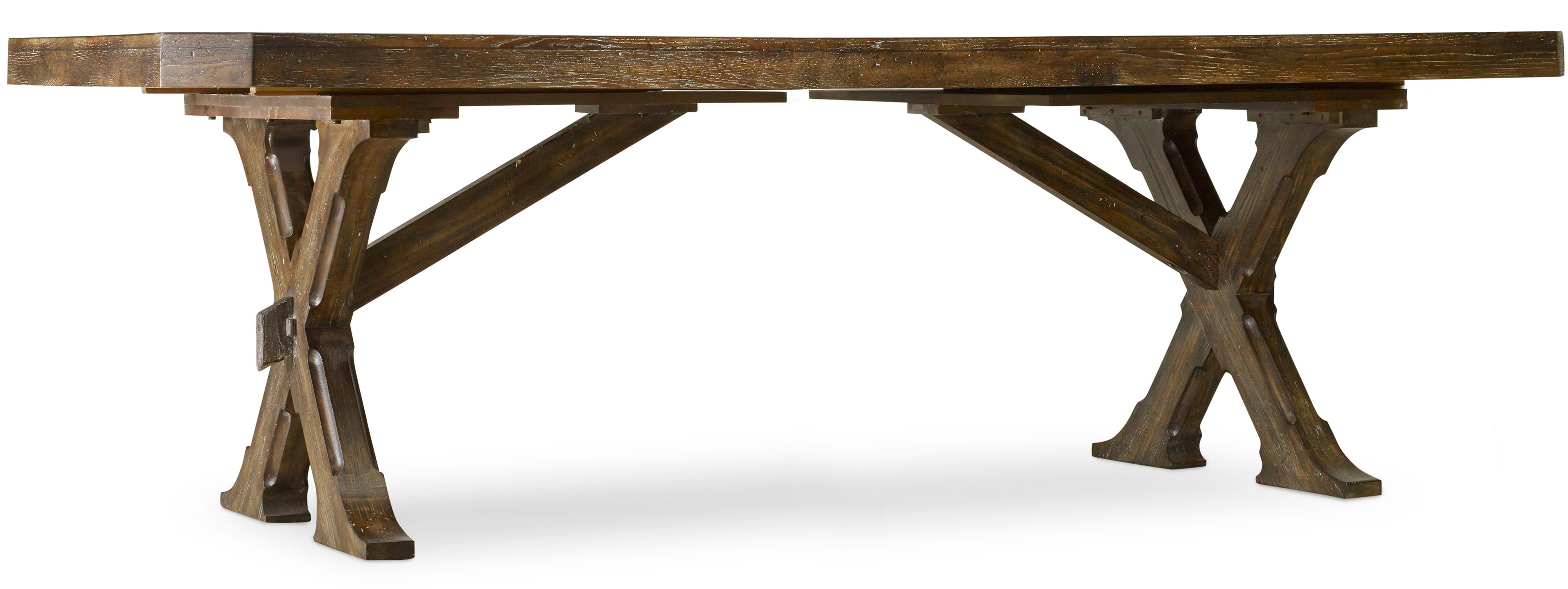 Hooker Furniture Willow Bend Rectangle Trestle Table - Item Number: 5343-75200