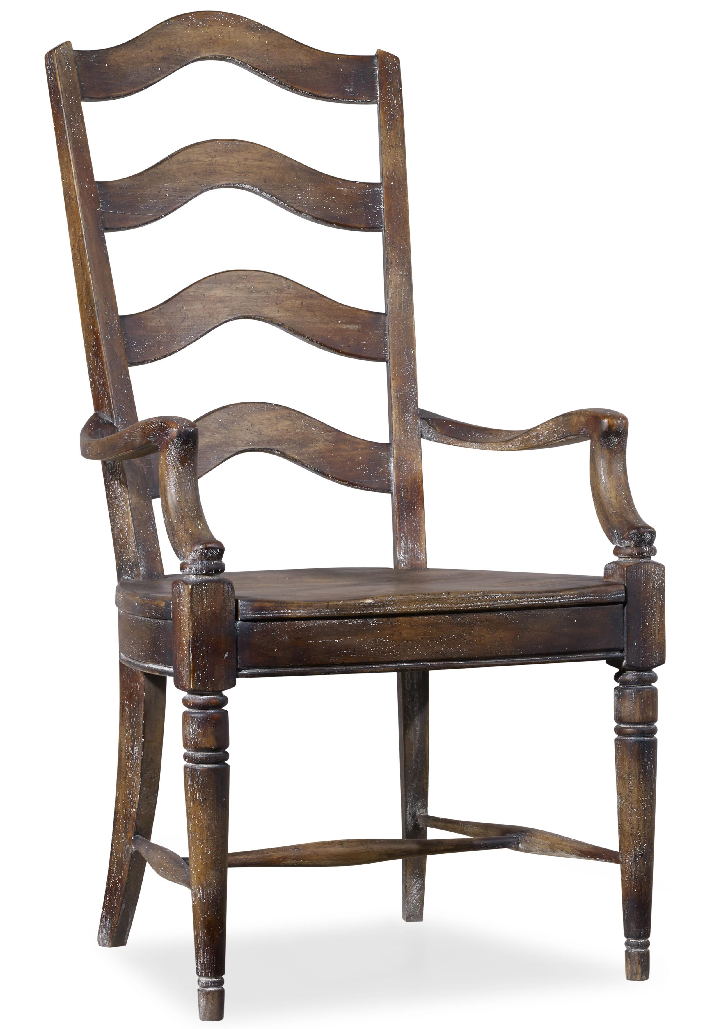 Hooker Furniture Willow Bend Ladderback Arm Chair - Item Number: 5343-75300