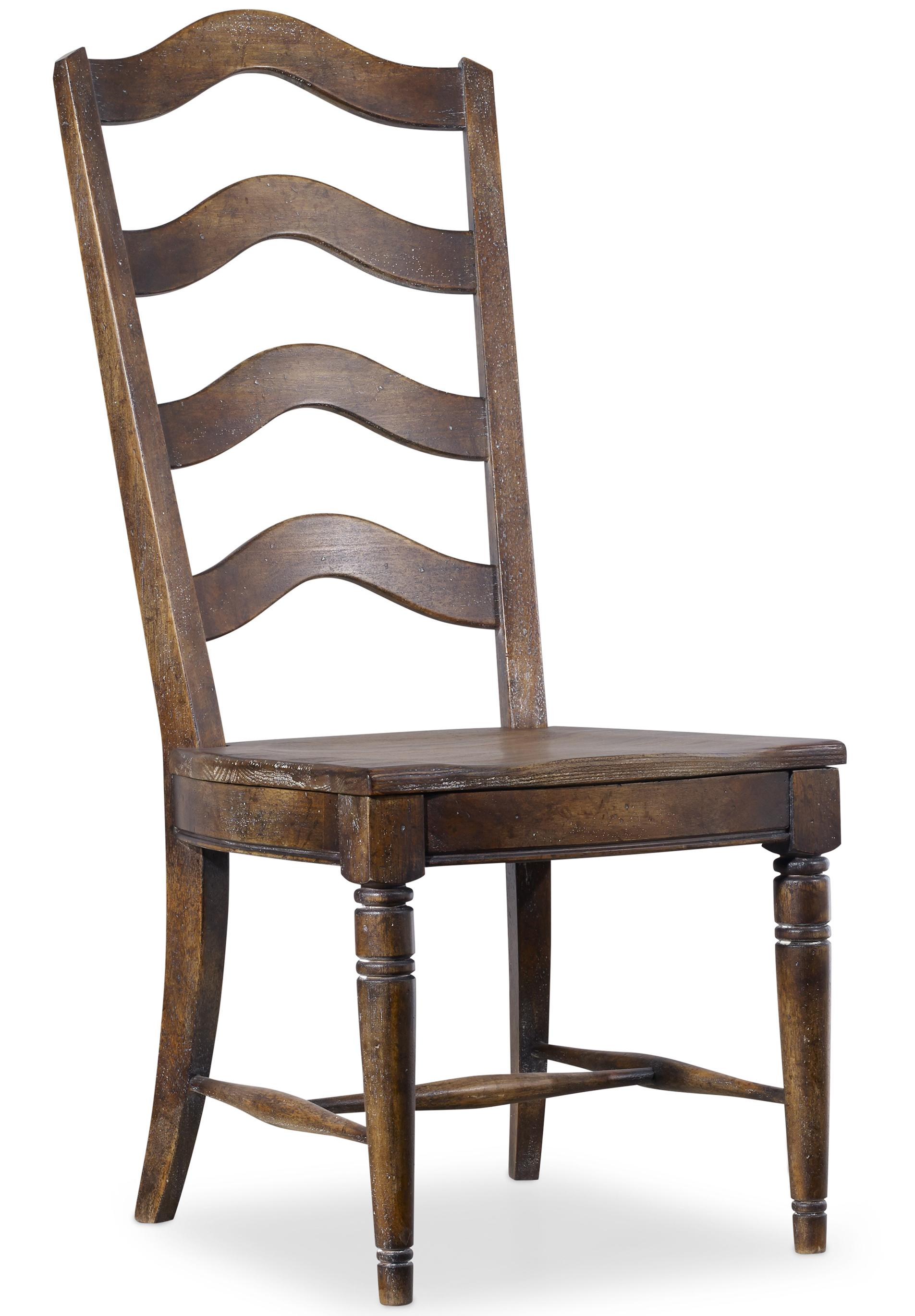 Hooker Furniture Willow Bend Ladderback Side Chair - Item Number: 5343-75310