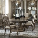 Hooker Furniture Woodlands 7-Piece Table and Chair Set - Item Number: 5820-75200-84+2x75401-84+4x75411-84