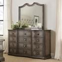 Hooker Furniture Woodlands Dresser and Mirror Set - Item Number: 5820-90002-84+90004-85