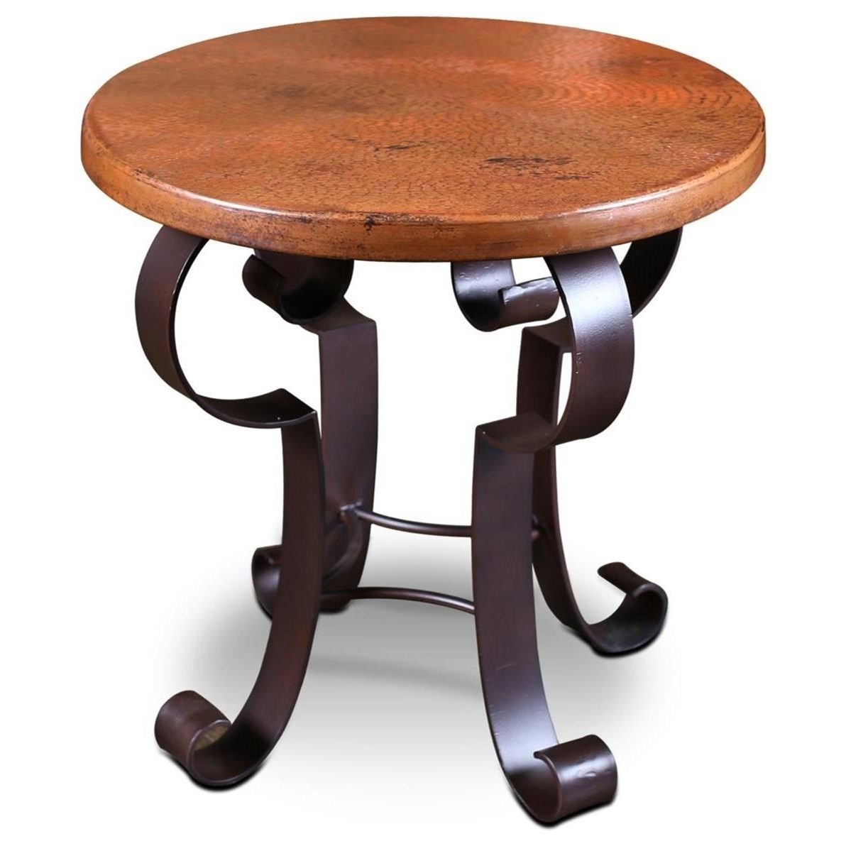 Mallorca Copper Top End Table by Horizon Home at Home Furnishings Direct